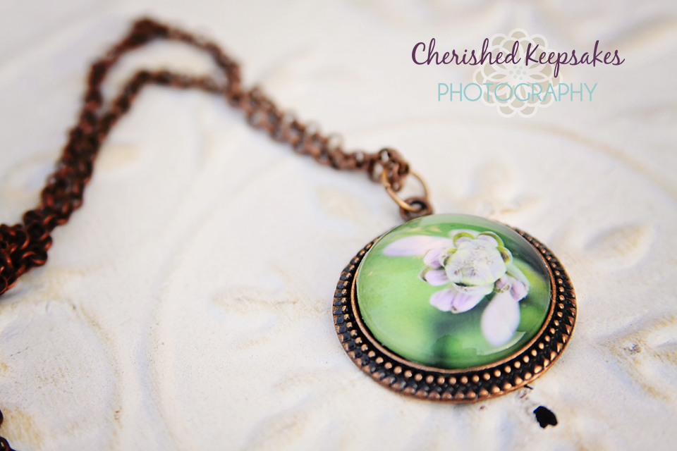 Purple/Violet Hyacinth Blooms Flower Photo Pendant Necklace